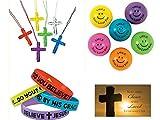 BizzyBecca 145 Piece Religious Christian Theme Party Favors Gift Bundle Set for Kids