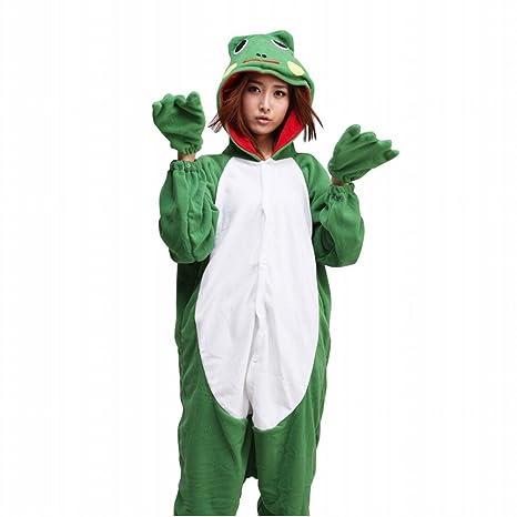 Ferrand Kigurumi Pijamas Unisexo Adulto Traje Disfraz Animal Adulto Animal Pyjamas Rana XL
