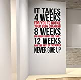 DesignDivil Inspiring Weightloss Wall Decal perfect for Gyms Health & Fitness Centres