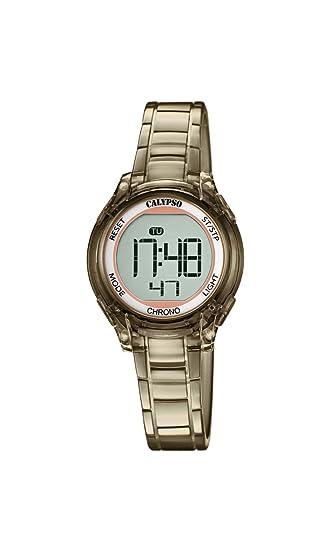 Calypso Reloj Digital para Mujer de Cuarzo con Correa en Plástico K5737/6: Amazon.es: Relojes