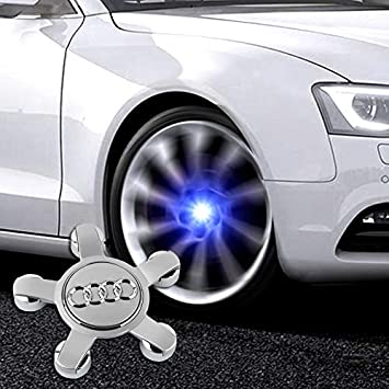 Bearfire 4Pcs Waterproof LED Light Wheel Hub Center Caps Cover benz