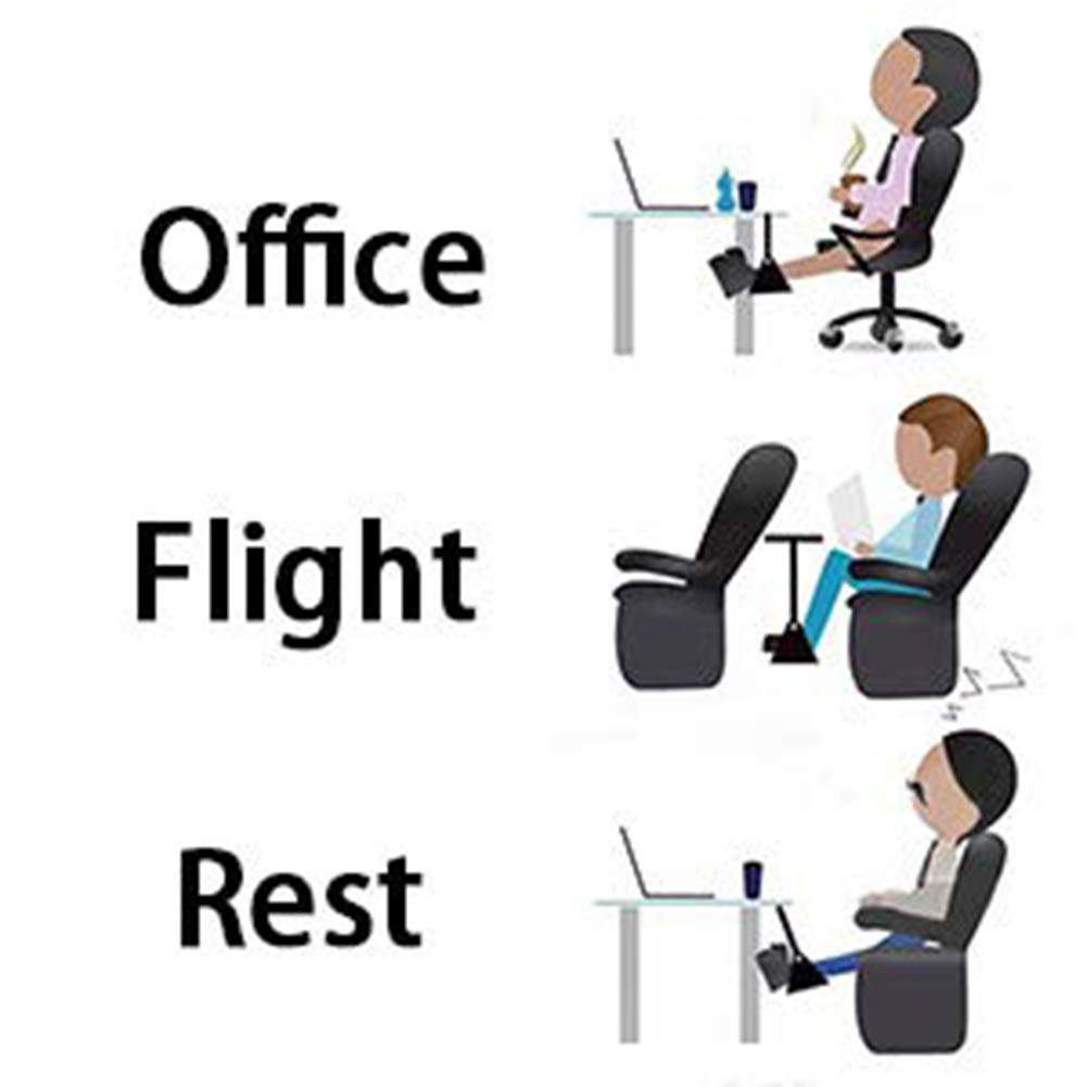 Airplane Footrest Travel Foot Hammock Flight Bus Train Office Home Comfortable and Adjustable,Multi-purpose,Also for the neck pain relief TourKing Footrest Hammock