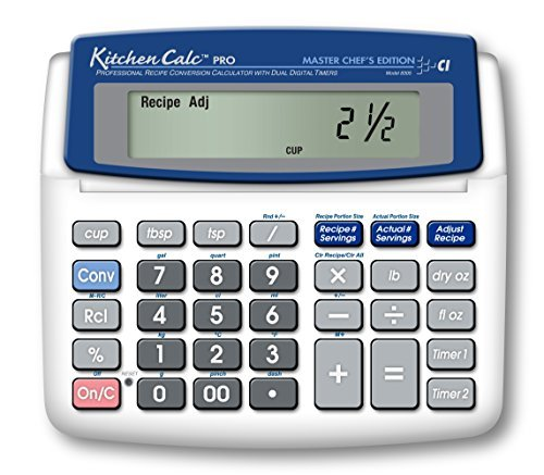 Calculated industries kitchen calculator hand held with digital.