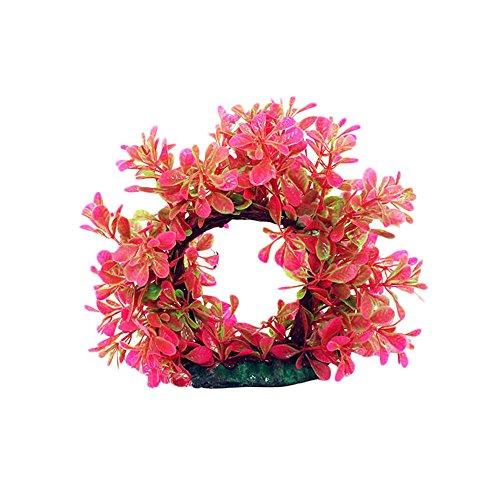 (Aquarium Green Plant Wreath Decorations- Gbell Fish Tank Plant Creature Aquarium Decor Landscapes)