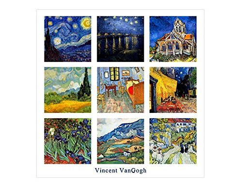 Alonline Art - Collage #6 Starry Night Cafe by Vincent Van Gogh | print on wall sticker vinyl decal (Rolled) | 20