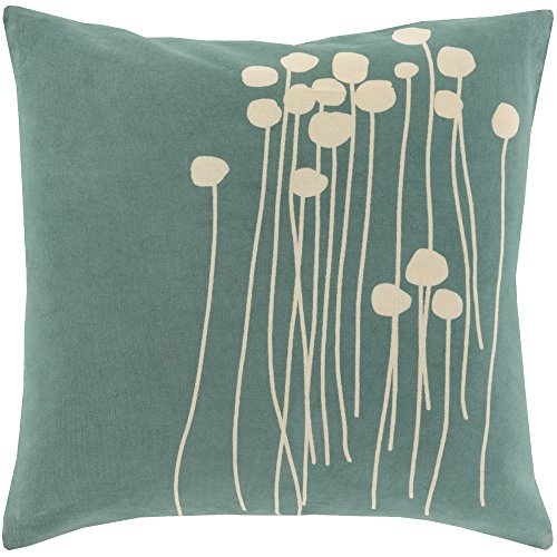 Surya LJA002-2020P Synthetic Fill Pillow, 20-Inch by 20-Inch, Sea Foam Beige