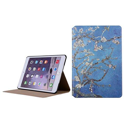 inShang 9.7 inch iPad (2017) Fundas soporte y carcasa para Apple 9.7 inch iPad (2017) ( , smart cover PU Funda ,art style + clase alta 2 in 1 inShang marca negocio Stylus pluma Apricot flower