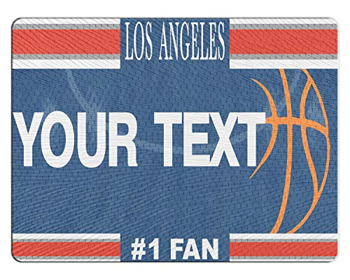 Los Angeles Clippers Glass - BRGiftShop Personalized Custom Basketball Team Los Angeles 11x15 Glass Cutting Board