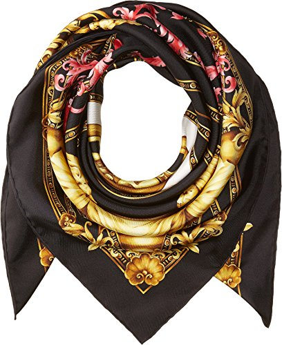 Versace  Men's Medusa Scarf Black/Fuchsia One Size by Versace