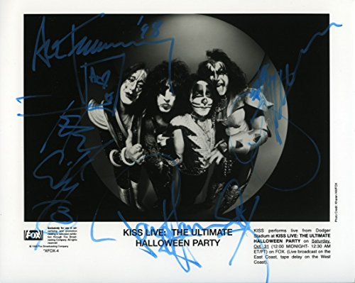 Kiss by Simmons, Stanley, Frehley, Criss Rare 'Ultimate Halloween Party' Signed Autographed 8x10 Photo Certified Authentic COA ()