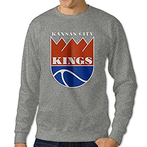 Kansas City Kings Logo Athletic Round Neck Sweaters Sweatshirts For Men's (Avatar Stand Up)