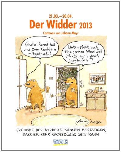 Der Widder im Jahr 2013: Cartoon-Kalender