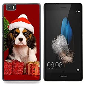 Stuss Case / Funda Carcasa protectora - Navidad del perro de perrito - Huawei Ascend P8 Lite (Not for Normal P8)