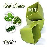 Balance Living® Herb Seeds Growing Kit - Set of 3 pots and organic soil