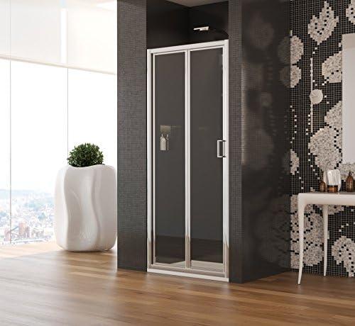 Mampara de baño de vidrio hueco modelo Natalia-acrílico-plata pulido-185 cm-compribene 75 cm: Amazon.es: Bricolaje y herramientas