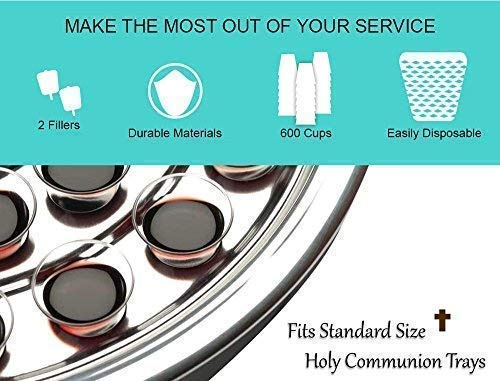 VALUE PACK - 600 Church Communion Cups with Two Wine