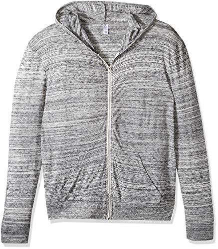 Alternative 01970E1 50% Polyester 38% Cotton 12% Rayon Mens Full Zip Hoodie XX-Large Urban Grey