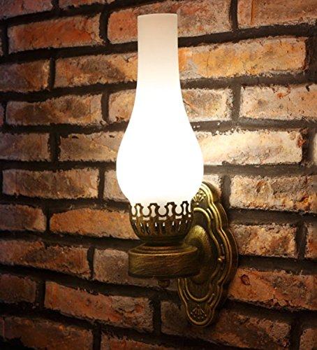 Retro-Lampe Cafe Restaurant Bar Wandleuchte Wall Lamp alten Öllampen die Gang Schlafzimmer Nachttischlampe BZDLOLI