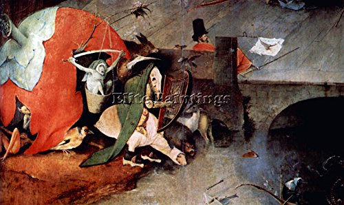 ANTHONY ALTAR TEMPTATION ST ANTHONY DETAIL 7 BOSCH ARTIST PAINTING OIL CANVAS 14x24inch