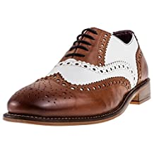 London Brogues Gatsby Leather Mens Brogue Shoes