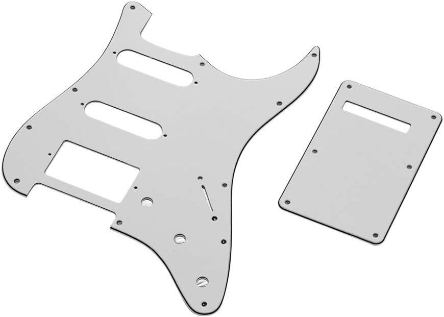 Juego de placas y placas de apoyo Pickguard de 3Ply SSH blancas para guitarra eléctrica de estilo americano ST