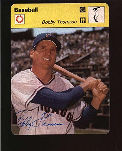 (1977 Editions Rencontre Bobby Thomson On Card Autograph Signature Ax5241 - Baseball Slabbed Autographed Cards)