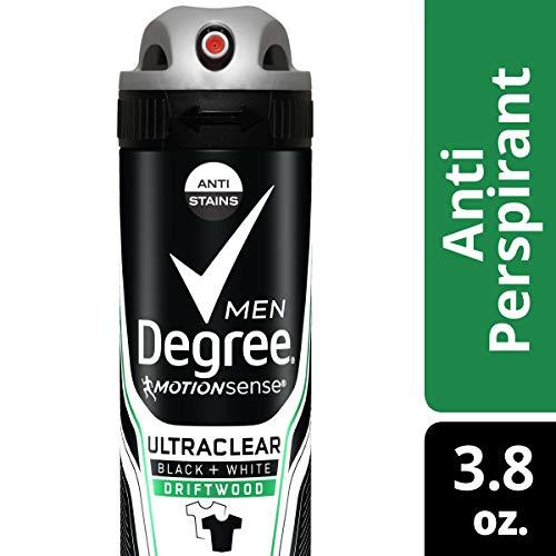 Degree Men Ultraclear Black + White Driftwood Antiperspirant Deodorant Dry Spray, 3.8 Ounce