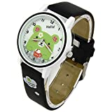 Synthetic Leather Cartoon Girls Boys Quartz Wrist Watches for Kids Fq-142