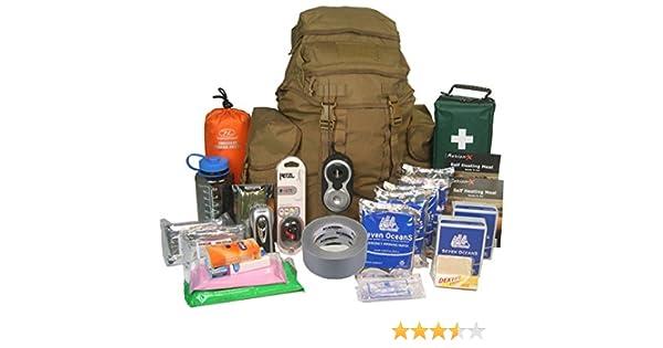 EvaQ8 - Kit de supervivencia para 2 personas, para 72 horas, de ...