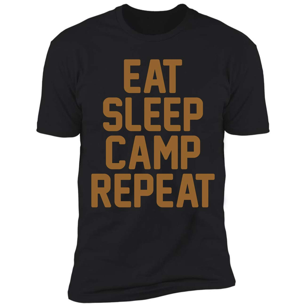 Eat Sleep Camp Repeat Funny Camping Gift Ted Tshirt
