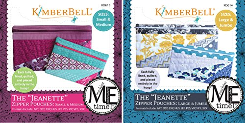 KimberBell Designs Bundle of 2 Embroider by Number ME Time CD