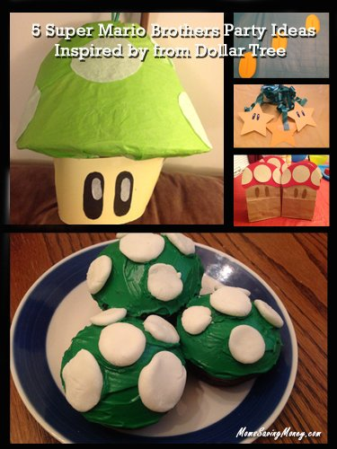 5 Mario Brothers Party Ideas Inspired from Dollar Tree (Party Decorating Ideas)