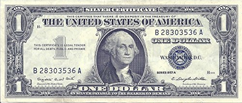 Silver Certificate Dollar Bill - 1 Dollar Bill 1957 A