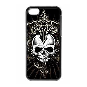 C-EUR Print Skull Pattern Hard Case for iPhone 5C