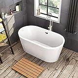"""WOODBRIDGE 59"""" Acrylic Freestanding Bathtub"""