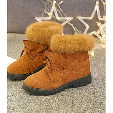 5 Black Comfort Fashion EU36 Chunky Winter 5 Casual UK3 Heel Shoes Brown Army Pu Bowknot US5 Boots CN35 For Women'S RTRY Boots Light Green AqTIHR