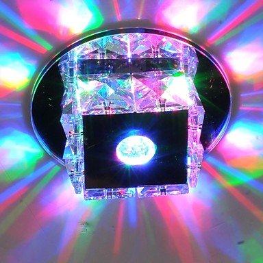 HJL- Flush Mount Mini Luxury 3W LED Crystal Ceiling Light , 90-240V-Warm White by XCTXRF