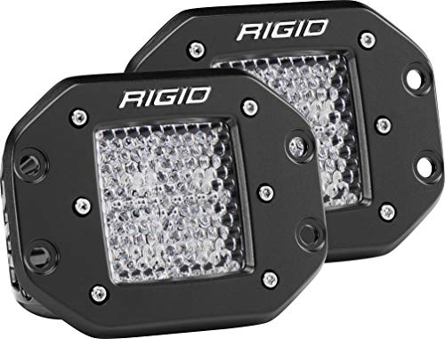 (Rigid Industries 212513 D-Series Pro, 3 Inch, Flood Diffused Beam, Flush Mount, LED Light, Pair Universal, 2 Pack)