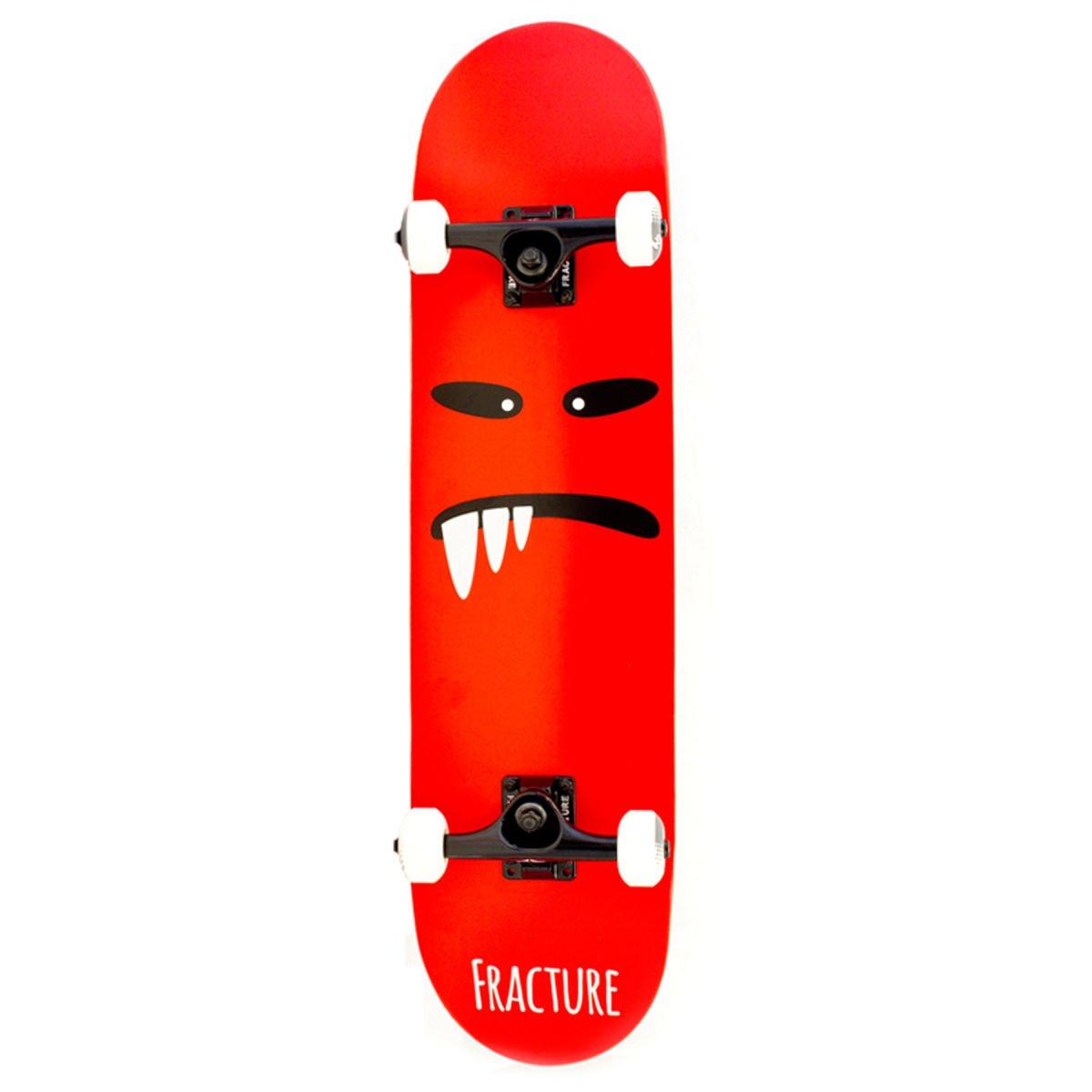 Fraktur 7,75x 31.5-inch Lil 'Monsters V2komplett Skateboard (rot)