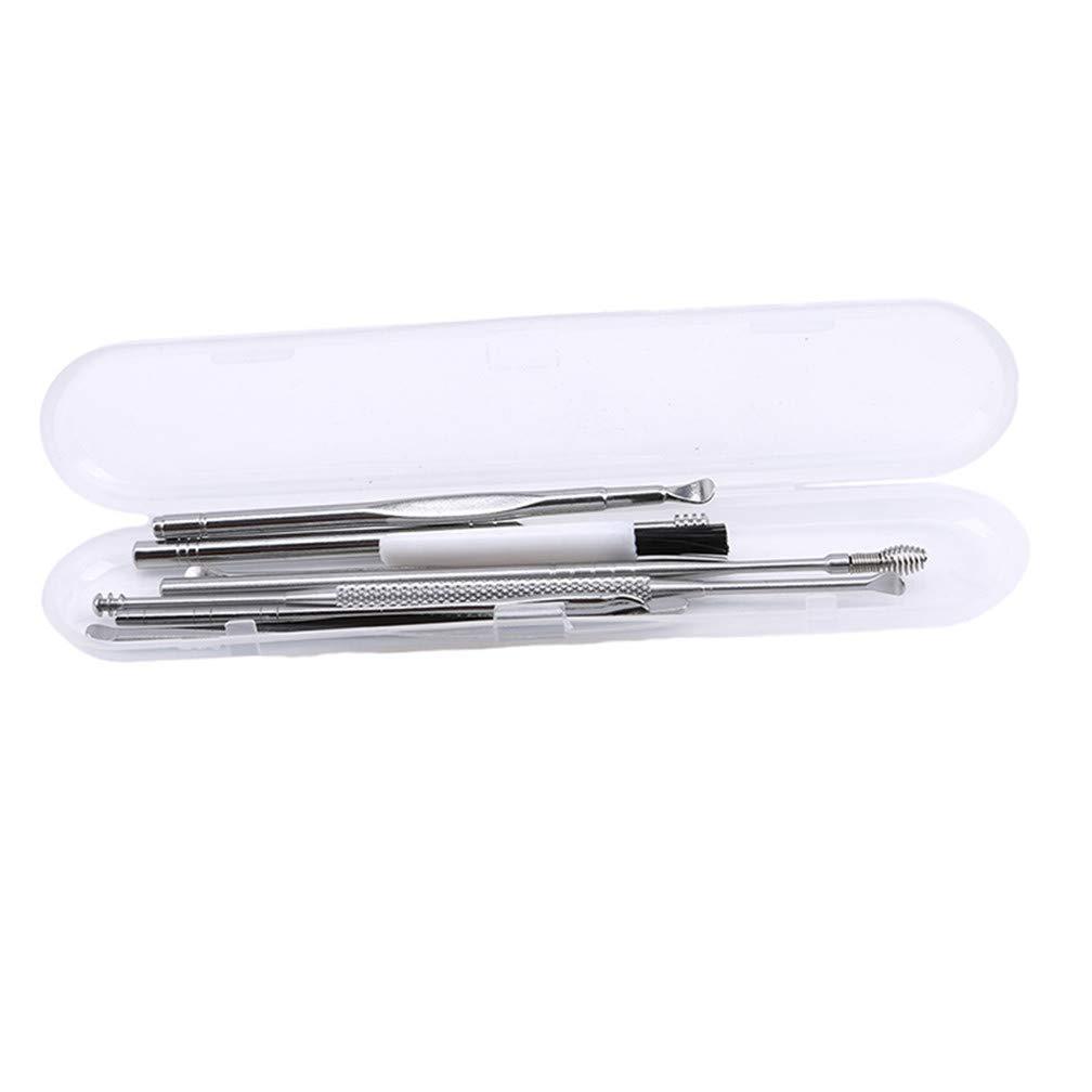 LJSLYJ 7 Pcs Ear Wax Pickers Stainless Steel Earpick Wax Remover Curette Ear Pick Cleaner Ear Spoon Care Ear Clean Tool
