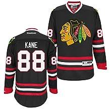Chicago Blackhawks NHL Patrick Kane #88 Black Premier Jersey Stitched Reebok (Medium)