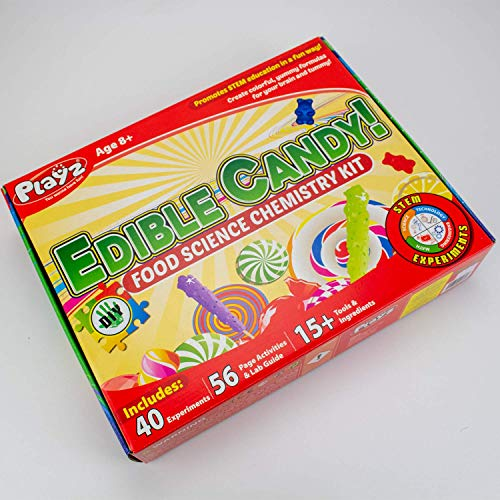 Playz Edible Candy! Food Science STEM Chemistry Kit - 40+ DIY Make Your Own Chocolates and Candy Experiments for Boy, Girls, Teenagers, & Kids Ages 8, 9, 10, 11, 12, 13+ Years Old by Playz (Image #8)