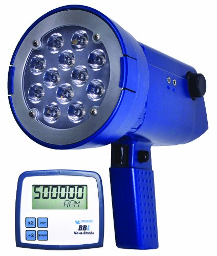Monarch Nova-Strobe BBL LED Portable Stroboscope, Rechargeable Battery, 9'' L x 3.66'' W x 3.56'' H by Monarch Instrument