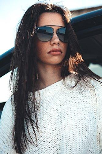 mujer Azul Gafas espejo STENDHAL de sol Plata hombre TWIG qf8qOwY