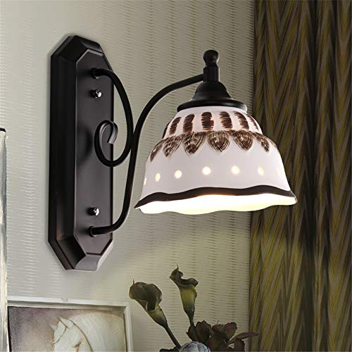 LiuXia Wall Lamps & Sconces Wall Spotlights Household Wall Washer Ceramic Wall lamp Living Room Room Bedside Aisle Wall lamp -