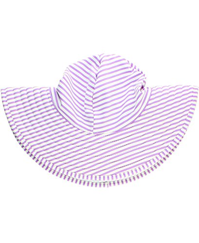 - RuffleButts Girls Lilac Seersucker Swim Hat - 6-10