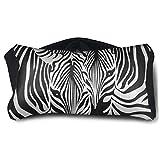 Facial Yoga Reflexology - Satin Eye Pillow Cover Abstract Animal Zebra Print Washable Removable Cover Sleep Eyes Mask Pillow
