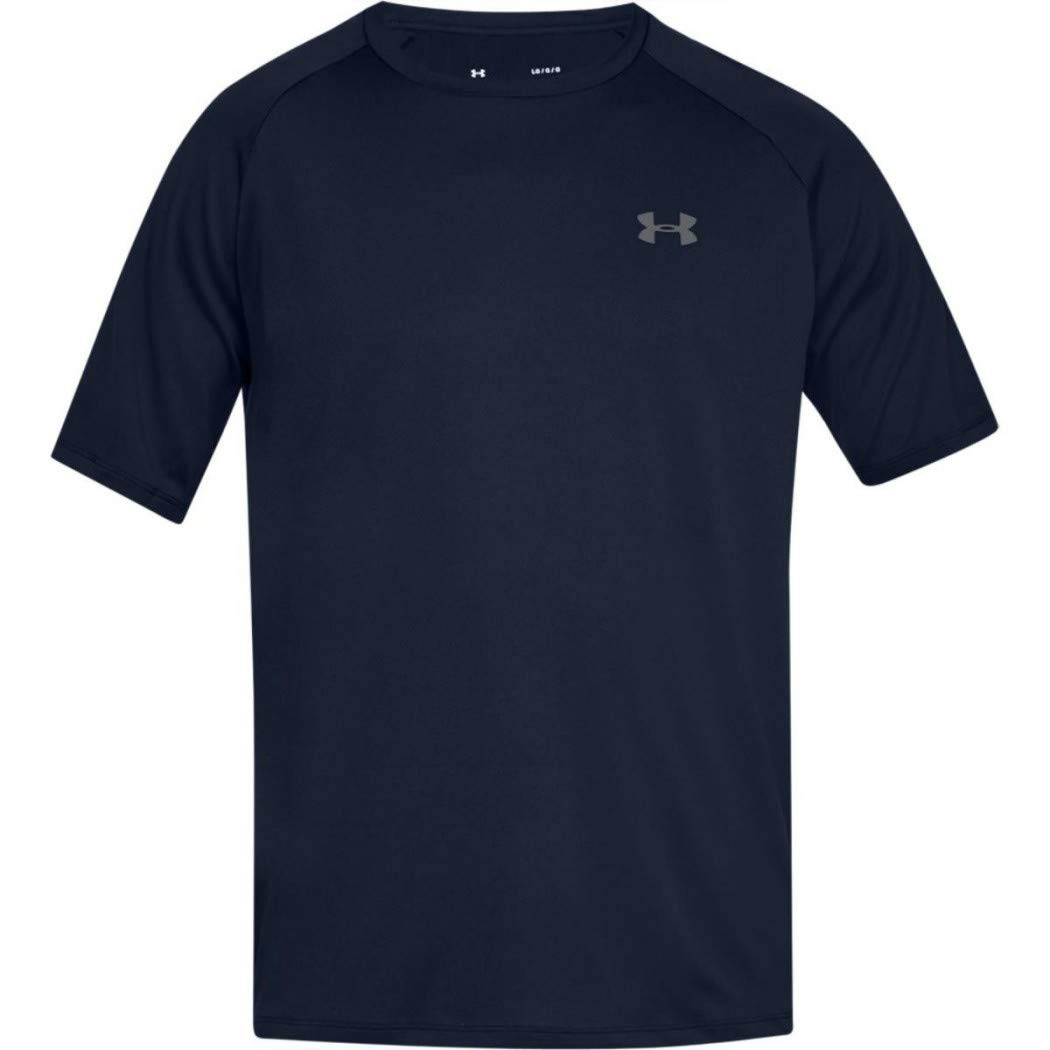 Under Armour Men's UA Tech Short Sleeve Tee 2.0, Academy/Graphite, XS-R