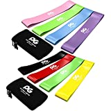 Physix Gear Sport Resistance Loop Bands Set 4 - Best Home Fitness Exercise Bands for Legs, Crossfit Workout, Physical Therapy, Pilates, Yoga & Rehab - Improve Mobility and Strength - 10in x 2in BGYR