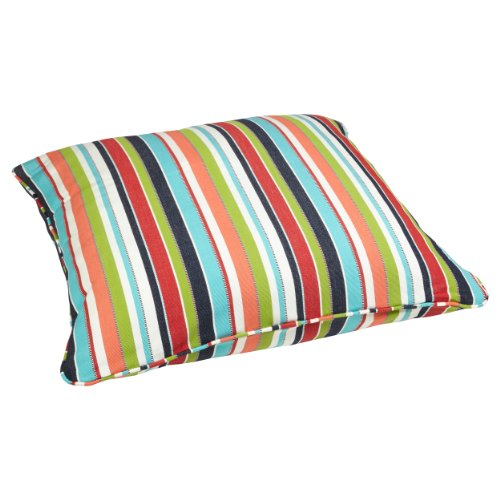 - Mozaic Company Sunbrella Indoor/ Outdoor 26-inch Corded Floor Pillow, Carousel Confetti